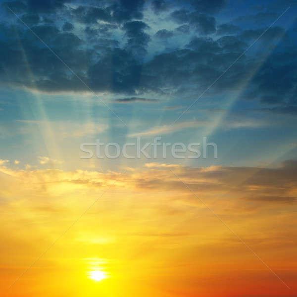beautiful sunrise and cloudy sky Stock photo © alinamd