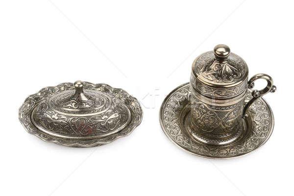 metal cup and sugar bowl Stock photo © alinamd
