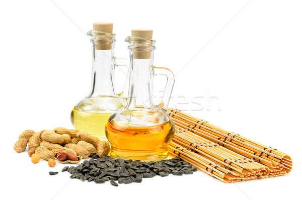 Tournesol semences cacahuètes pétrolières isolé blanche Photo stock © alinamd