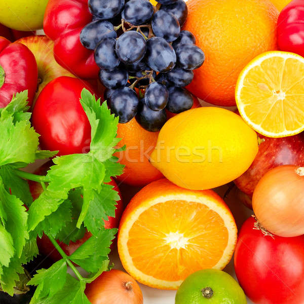 beautiful background of a set of vegetables Stock photo © alinamd