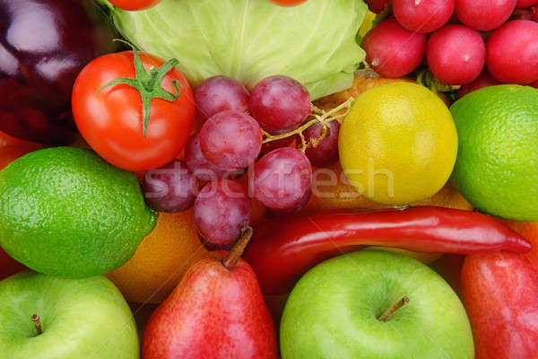 background  of vegetables and fruits Stock photo © alinamd