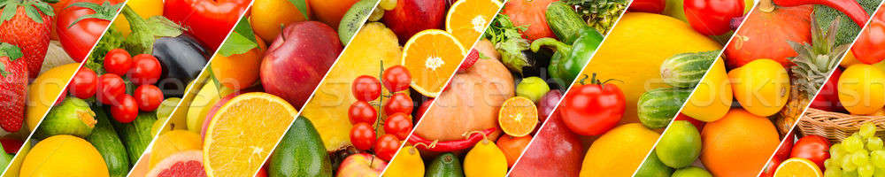 Vruchten groenten collage breed foto panoramisch Stockfoto © alinamd