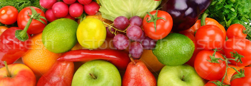 background of ripe fruit and vegetables Stock photo © alinamd