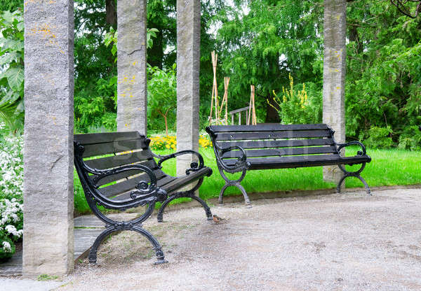 bench  to rest in a beautiful park Stock photo © alinamd