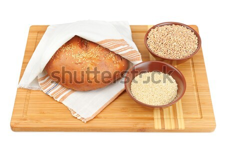 bread and cooking utensils isolated on white background Stock photo © alinamd