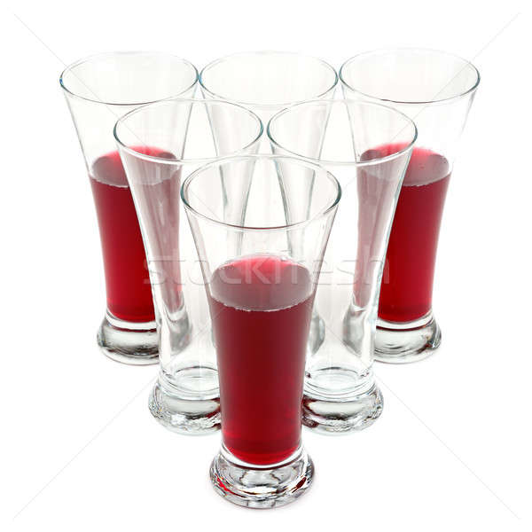 glasses with fruit juice Stock photo © alinamd