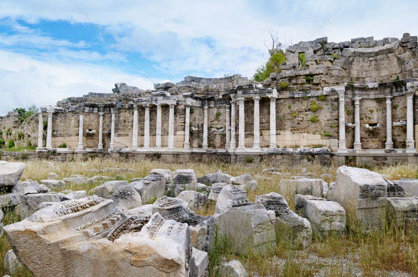Beautiful view of ancient ruins in Side, Turkey Stock photo © alinamd