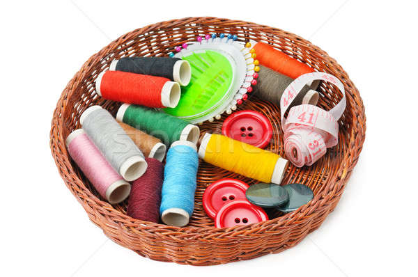 thread and buttons in a basket Stock photo © alinamd