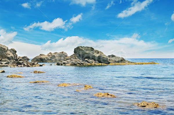 Océano pintoresco playa cielo azul agua mar Foto stock © alinamd