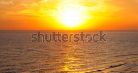 Fantastik gündoğumu okyanus su bahar güneş Stok fotoğraf © alinamd