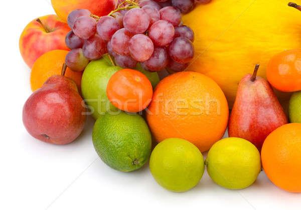 Gyümölcs bogyók izolált fehér étel alma Stock fotó © alinamd