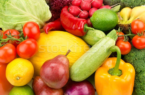 bright background of ripe fruit and vegetables Stock photo © alinamd