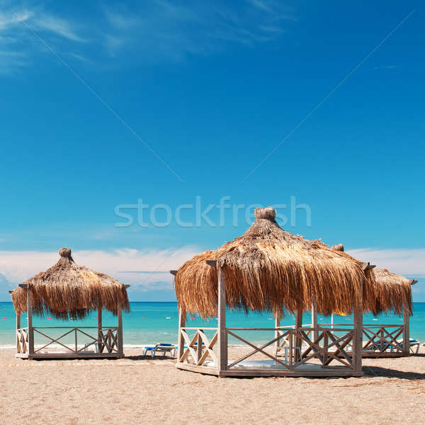 bungalows for a holiday in the seaside resort Stock photo © alinamd