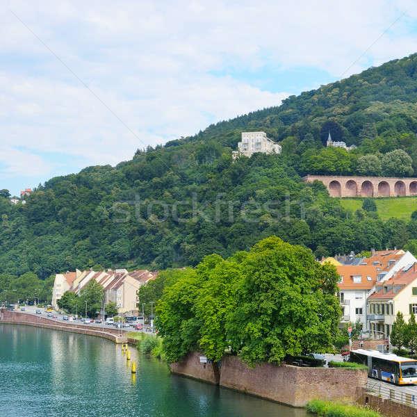 embankment city, mountain and sky Stock photo © alinamd