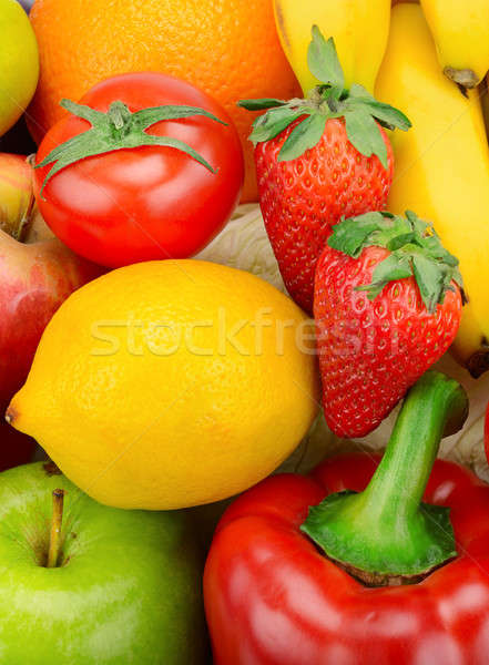 bright background of fruits and vegetables Stock photo © alinamd