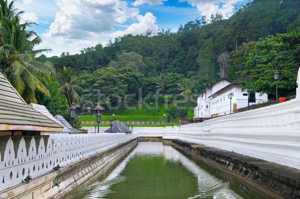 Buddhista templom Sri Lanka fog Buddha víz Stock fotó © alinamd