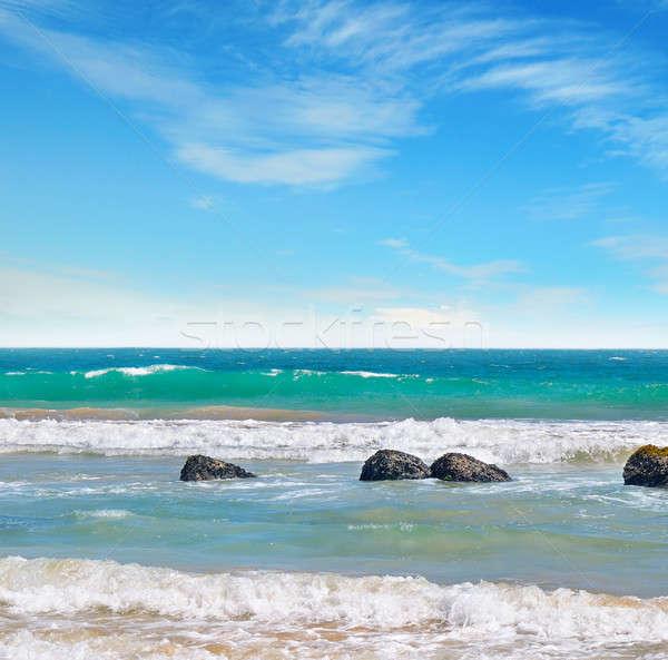 Océan pittoresque plage ciel bleu ciel nature Photo stock © alinamd