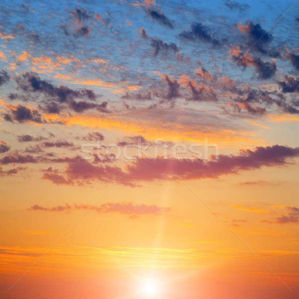 Güneş bulutlu gökyüzü güzel bulutlar gün batımı Stok fotoğraf © alinamd