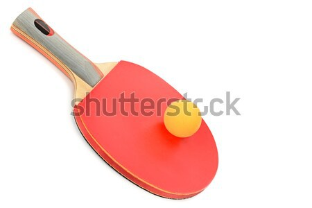 racquet and balls to play ping-pong  Stock photo © alinamd