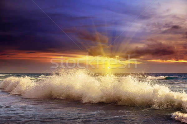 Fantastic sunset on the ocean Stock photo © alinamd