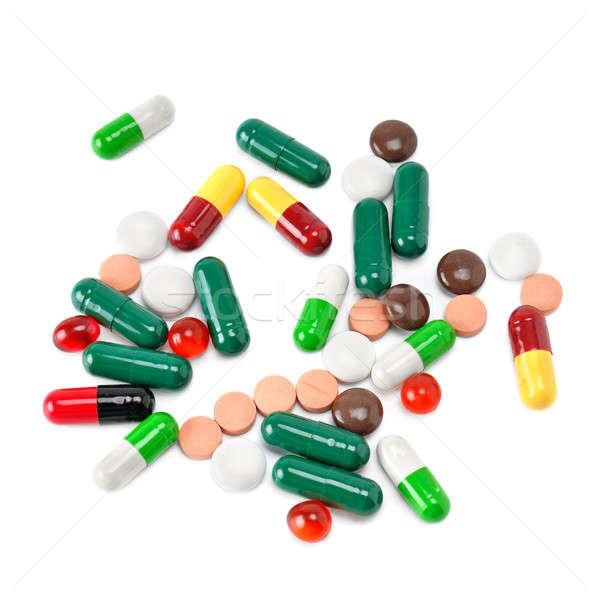 set of pills isolated on white background Stock photo © alinamd