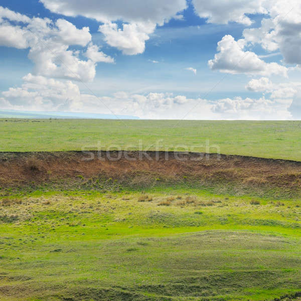 landslide and soil erosion on agricultural fields Stock photo © alinamd