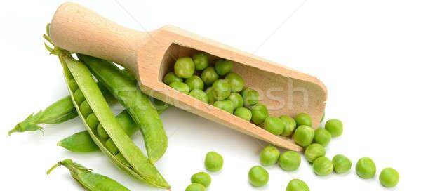 Verde chícharos aislado blanco salud fondo Foto stock © alinamd