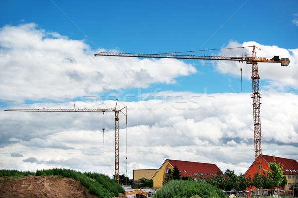 construction cranes Stock photo © alinamd