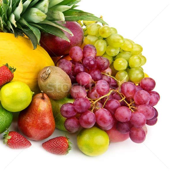 set of fruits isolated on white background Stock photo © alinamd
