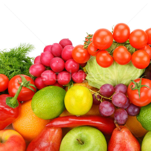 Collection of vegetables and fruits isolated on white background Stock photo © alinamd