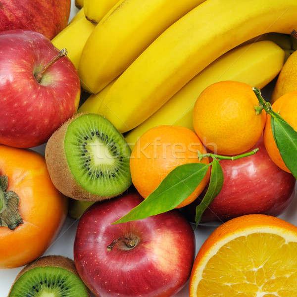 Stock photo: background set of fruits