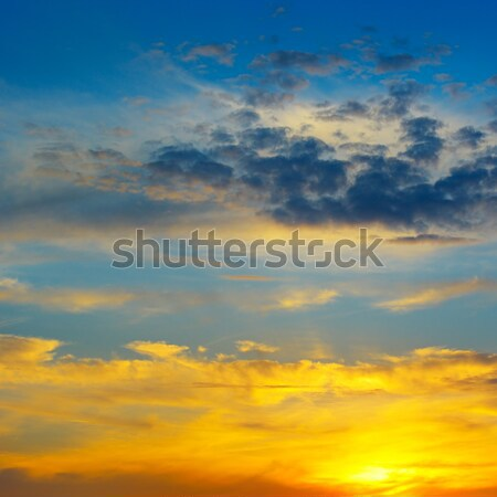 beautiful sunrise and cloudy sky Stock photo © alinamd