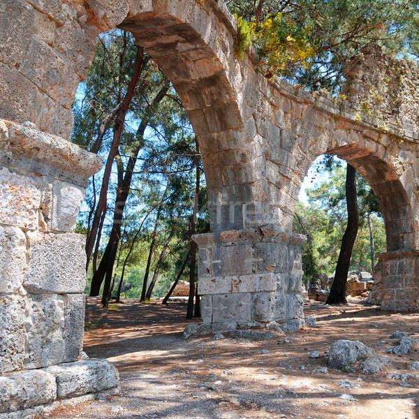 руин древних город небе строительство стены Сток-фото © alinamd
