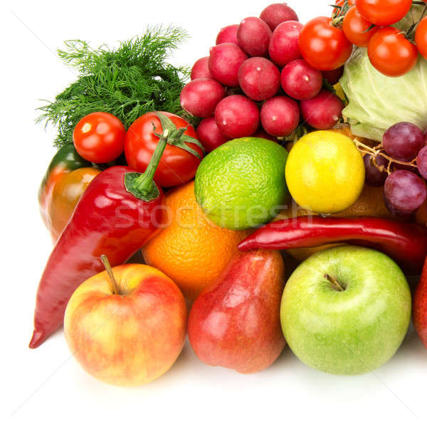 set of healthy vegetables and fruits Stock photo © alinamd
