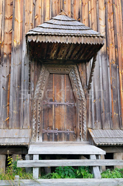 Velho porta varanda textura edifício Foto stock © alinamd