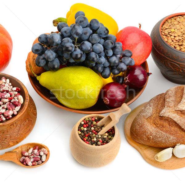 Természetes termékek izolált fehér szett étel Stock fotó © alinamd