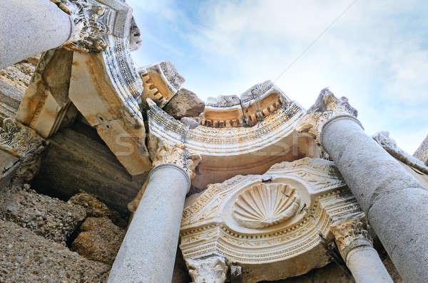 Gyönyörű kilátás ősi romok oldal Törökország Stock fotó © alinamd