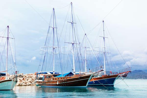 sailing ships in the sea bay Stock photo © alinamd