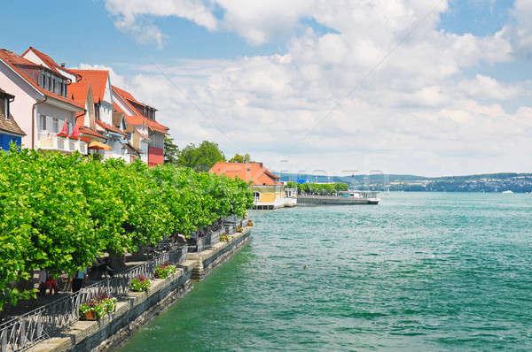 Scénique bord de l'eau lac Allemagne ciel arbre Photo stock © alinamd