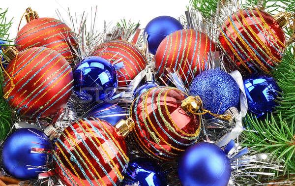 クリスマス 装飾 スプルース 孤立した 白 ガラス ストックフォト © alinamd