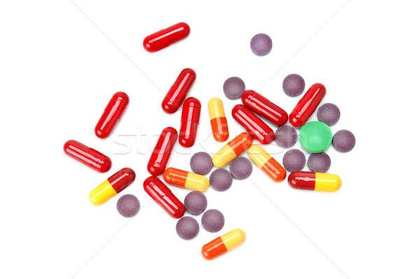 набор таблетки изолированный белый медицинской здоровья Сток-фото © alinamd