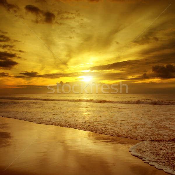 sunset over the ocean Stock photo © alinamd