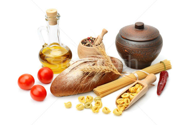 set of natural products isolated on white background Stock photo © alinamd