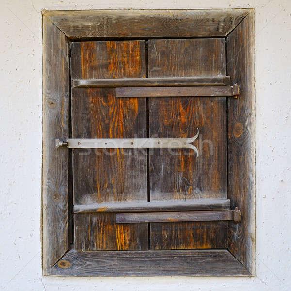 Starych okno glina ściany Zdjęcia stock © alinamd