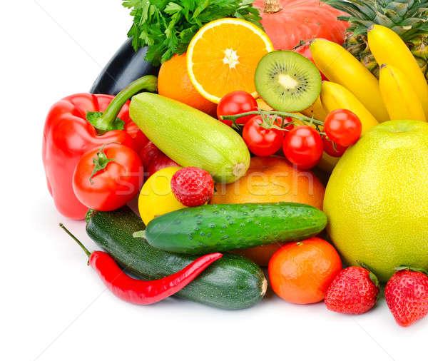 果物 野菜 孤立した 白 フルーツ 背景 ストックフォト © alinamd