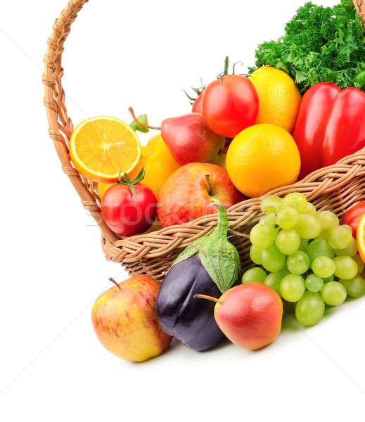 Stok fotoğraf: Meyve · sebze · sepet · elma · meyve