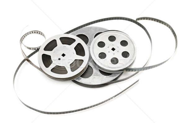 Starych taśmy filmowej odizolowany biały film tle Zdjęcia stock © alinamd
