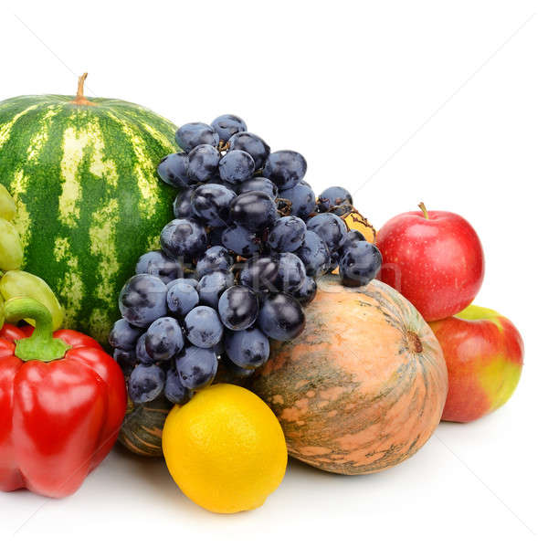 set of fruits and vegetables isolated on white background Stock photo © alinamd