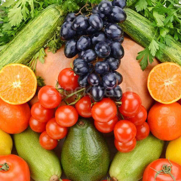Jasne owoce warzyw żywności owoców grupy Zdjęcia stock © alinamd