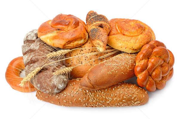 Chleba piekarni produktów odizolowany pieczywo białe biały Zdjęcia stock © alinamd